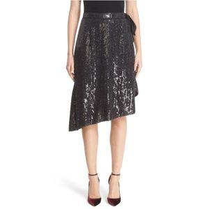 DIANE von FURSTENBERG Brenndah Sequin Wrap Skirt